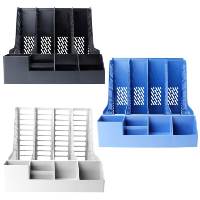 Four Section Desktop Document Organizer